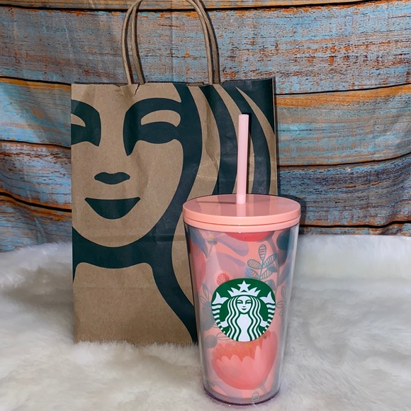 2020 Limited Edition Starbucks Pink Floral Tumbler
